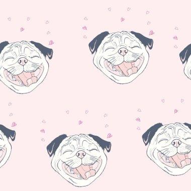 bulldogs seamless pattern