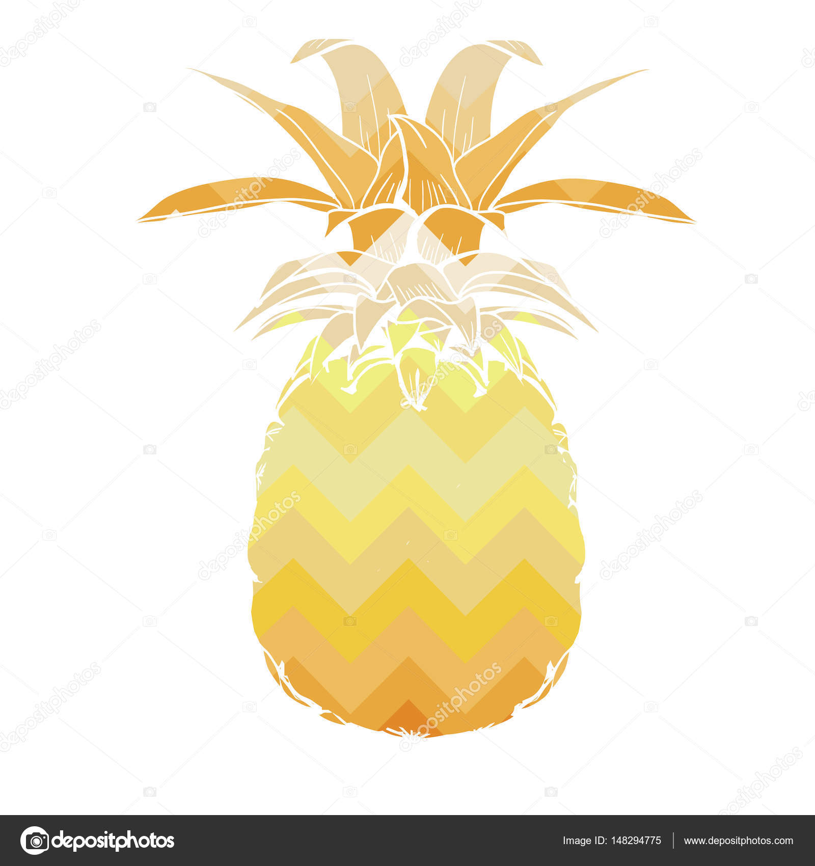 94049506d602 Vector illustration design of sweet pineapple isolated on white background  — Vector by 89534886399 mail.ru