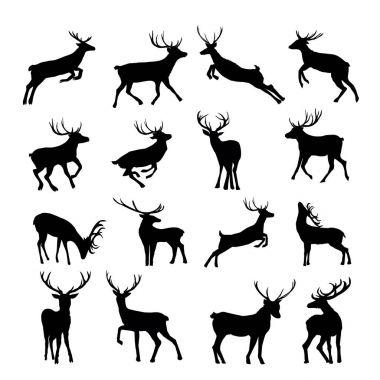 black deer seamless pattern