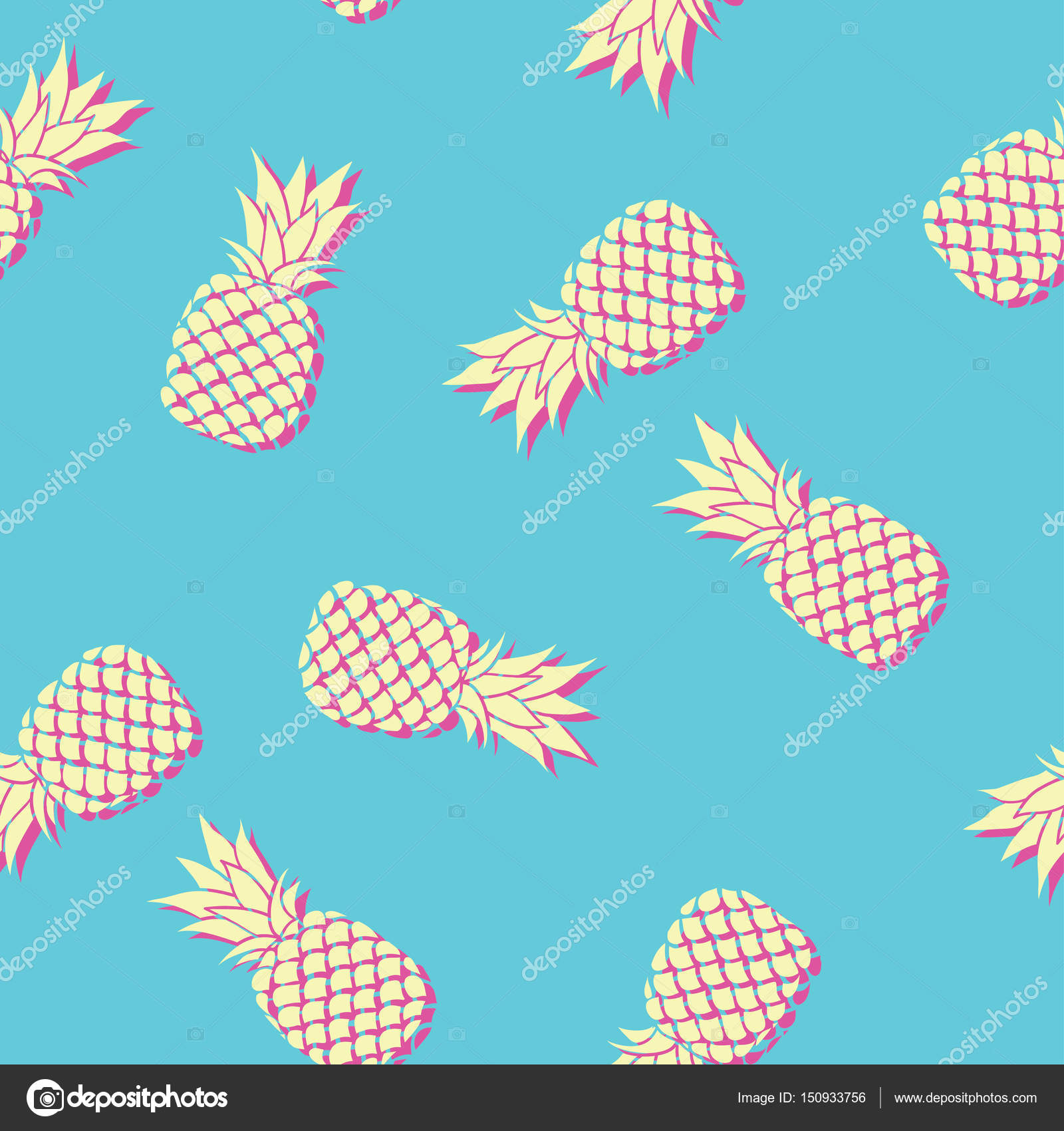 4e6985c20cff Colorful pattern with pineapple — Stock Vector © 89534886399 mail.ru ...