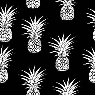 pineapple pattern, vector, illustration
