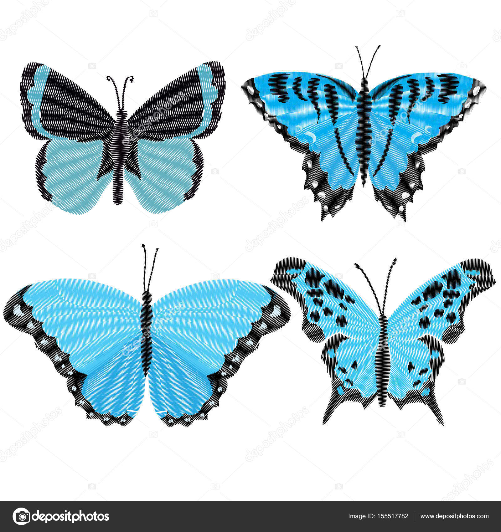 butterflies, vector, illustration — Stock Vector © 89534886399@mail ...