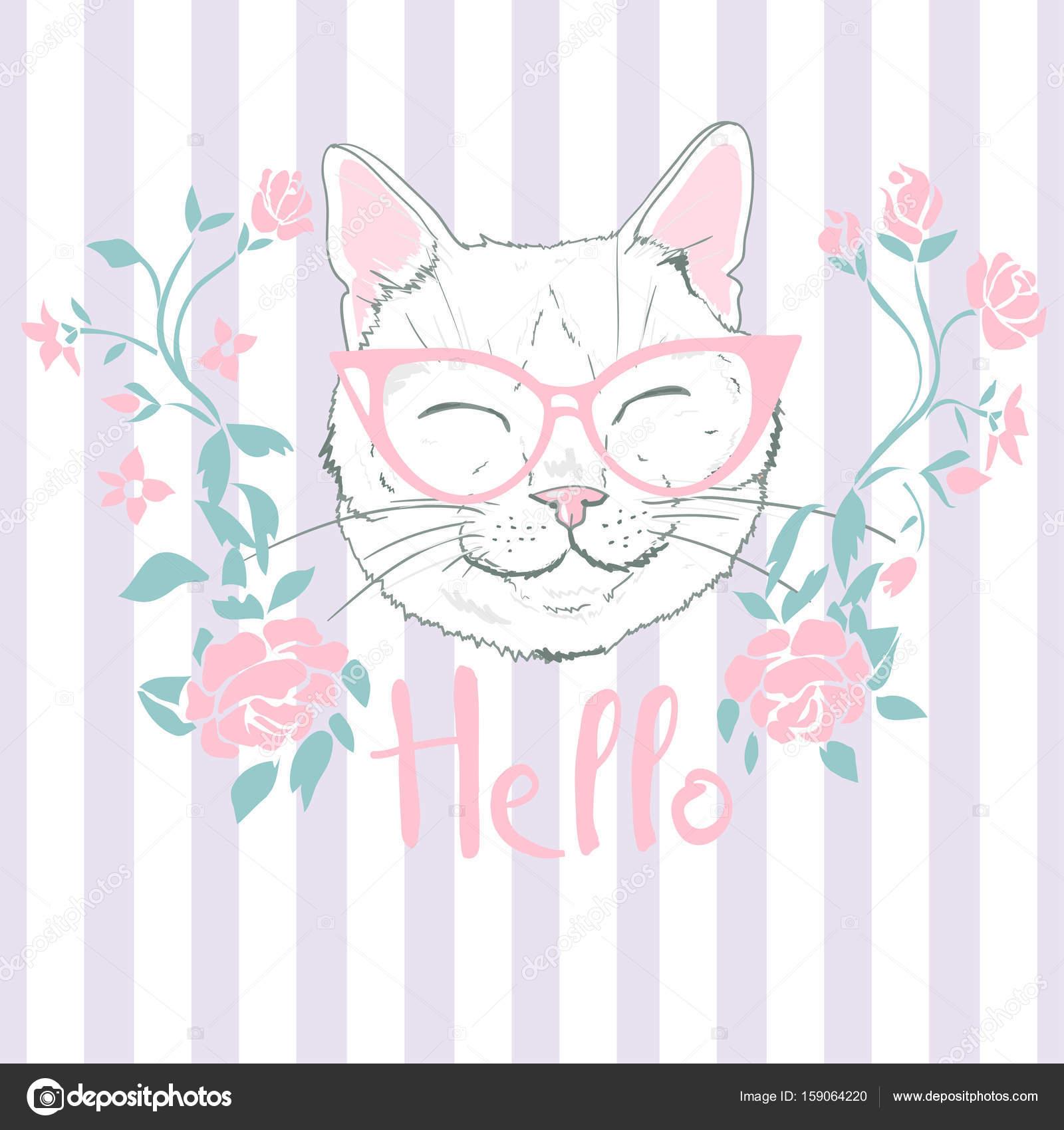 patrón gato, vector, Ilustración — Vector de stock © 89534886399 ...