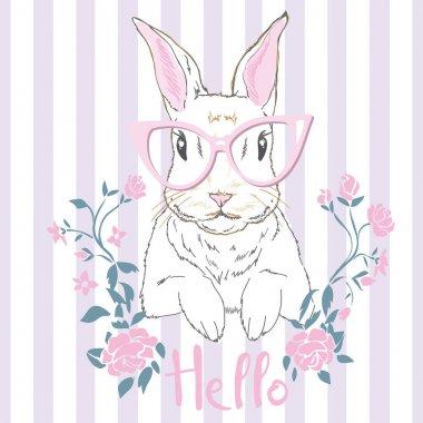rabbit-animal, vector, illustration