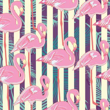 Flamingo pattern , vector, illustration