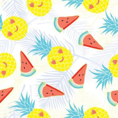 pineapple pattern , vector, illustration