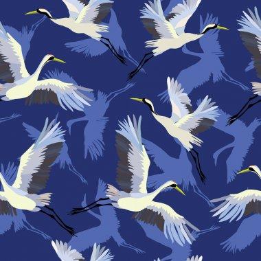 crane , pattern, vector, illustration