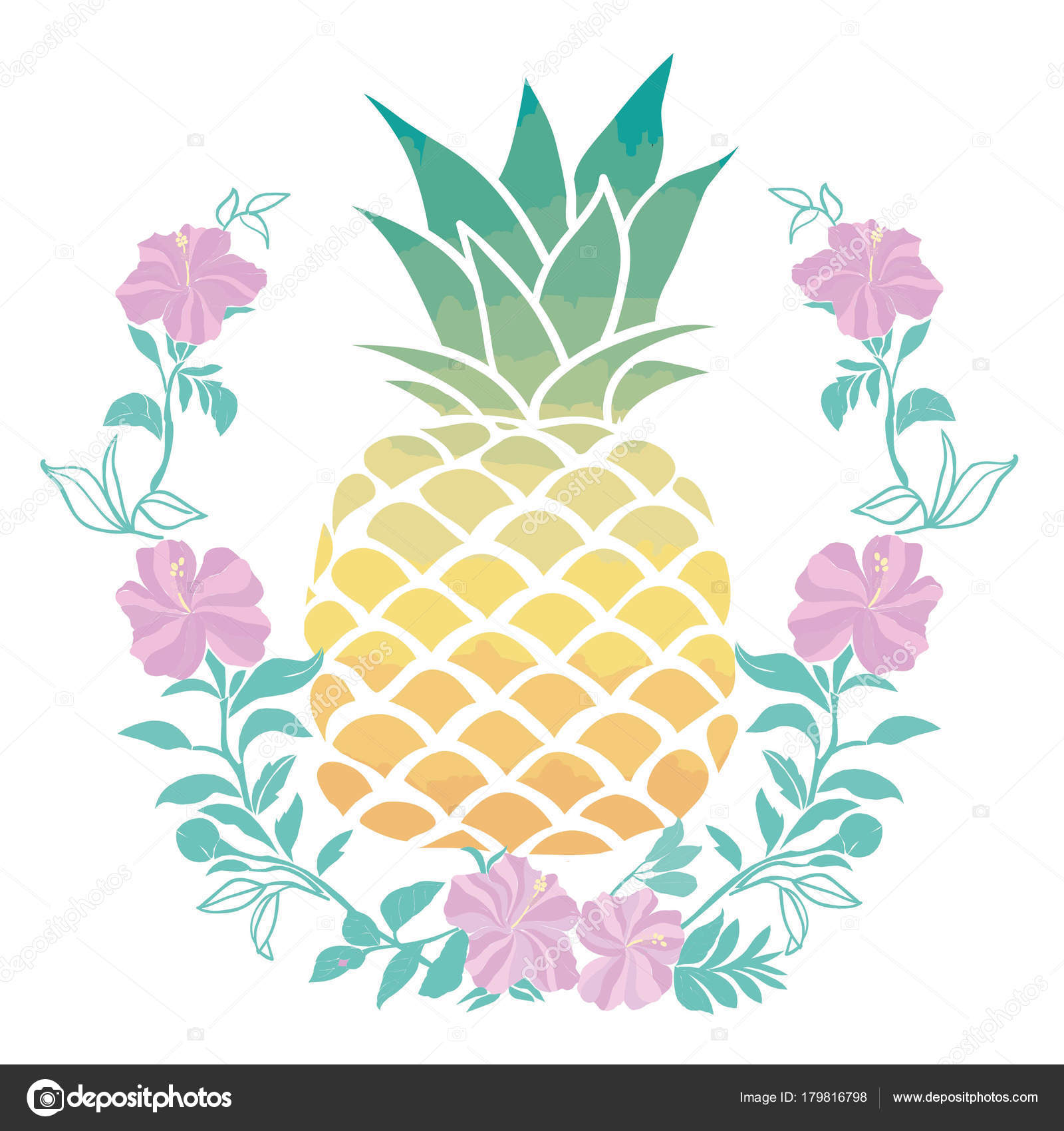 abe0368ca38f Pineapple with sunglases and headphones. Summer consept. Vector  illustration.yellow