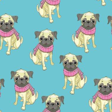 french bulldog seamless pattern dog