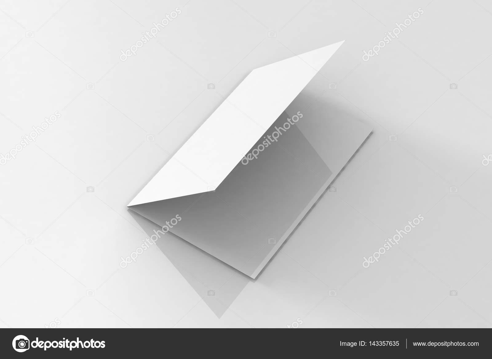 bi fold a5 brochure folder mock up op geïsoleerde witte