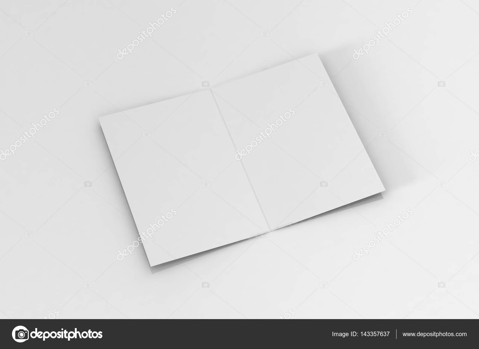 Realistic Rendering Of Bi Fold A5 Brochure Leaflet Mock Up On Isolated White Background Photo By DEVRAWAT21