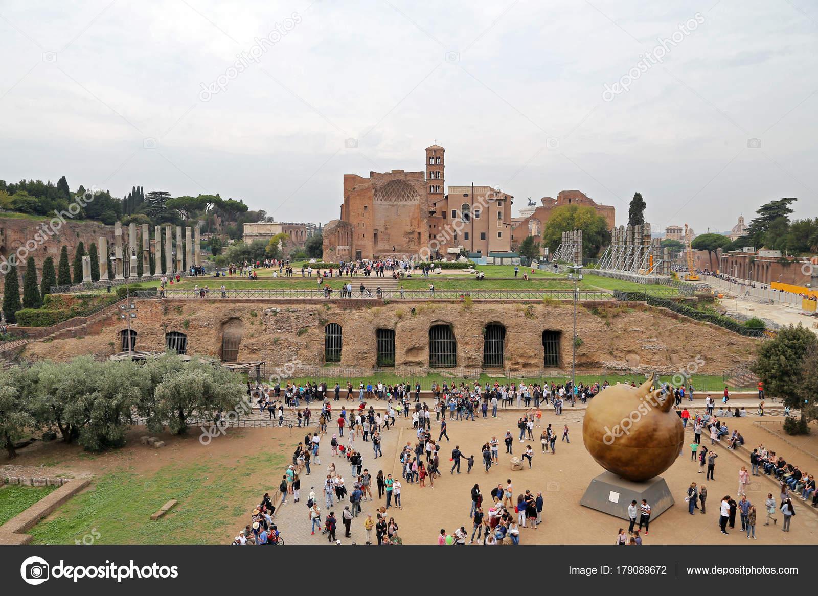 Roma Italy October 2017 Domus Aurea Built Emperor Nero Rome Stock