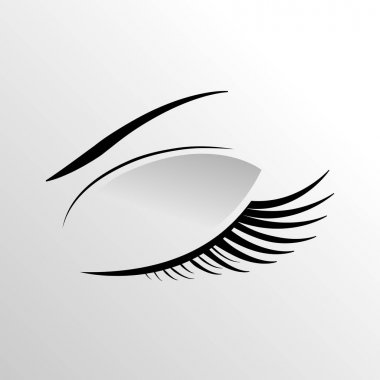 eyelashe on a gray background