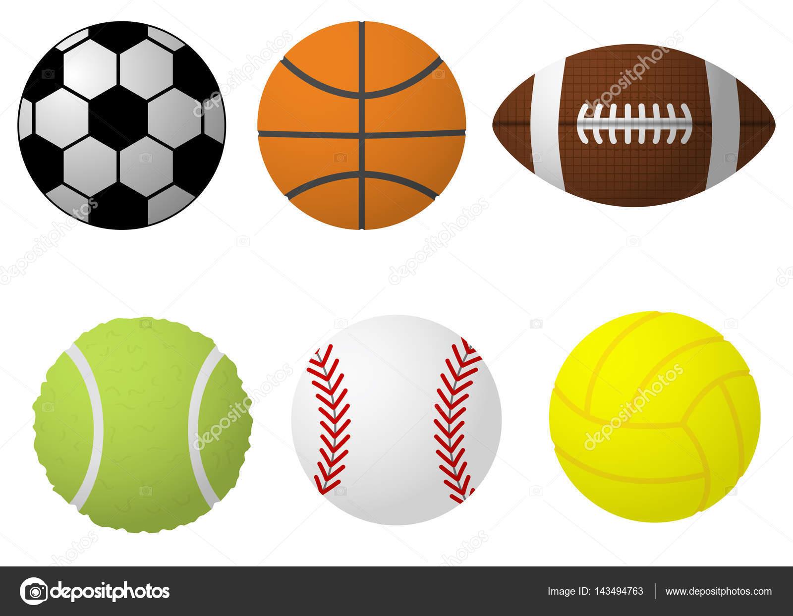 Vector Deportes Bolas Patrón De Fondo: Bolas Do Esporte Dos Desenhos Animados Ilustração Do Vetor