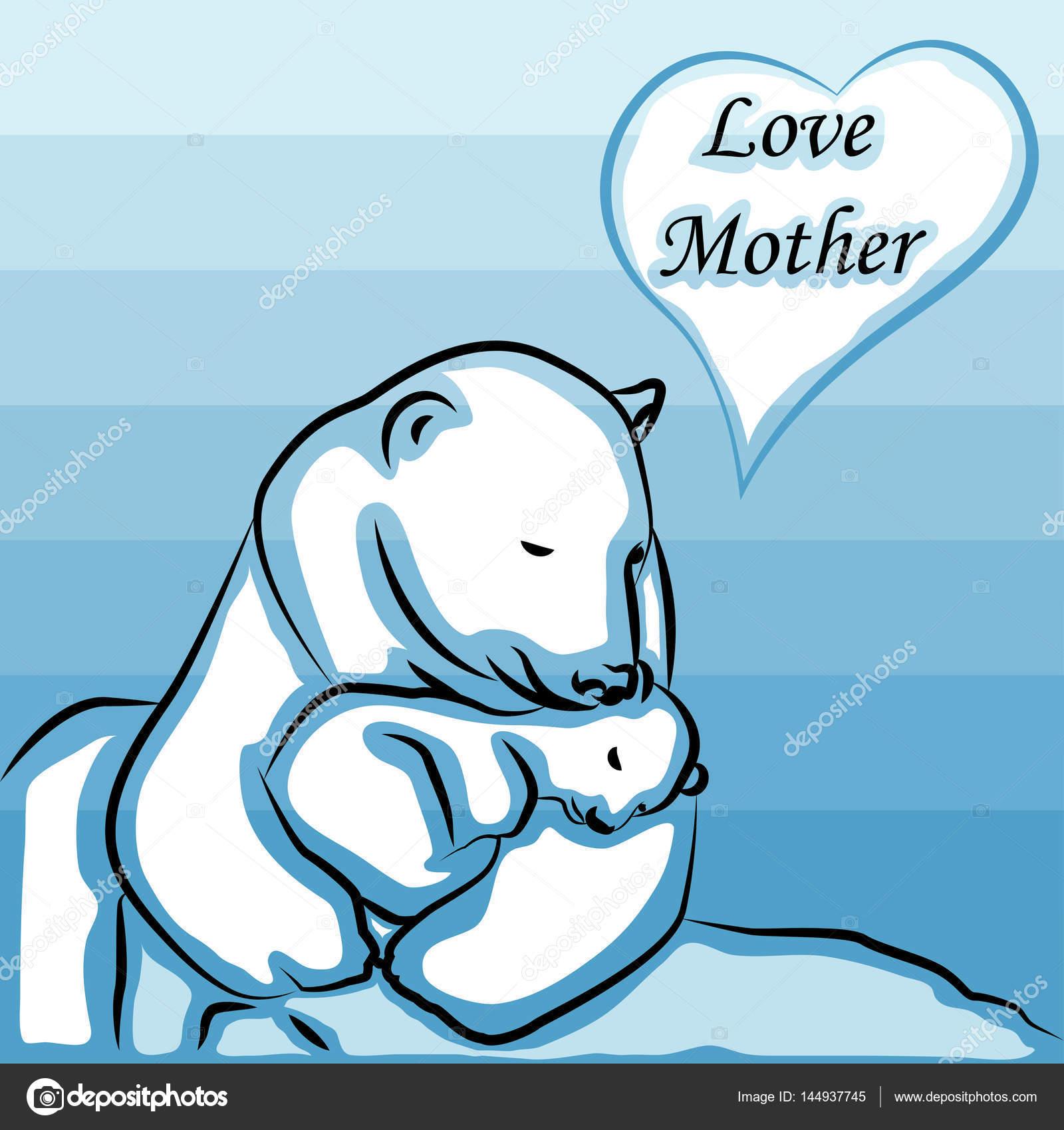Gelukkig Moederdag Ik Hou Van Moeder Lettertype Typt Met Tekenen