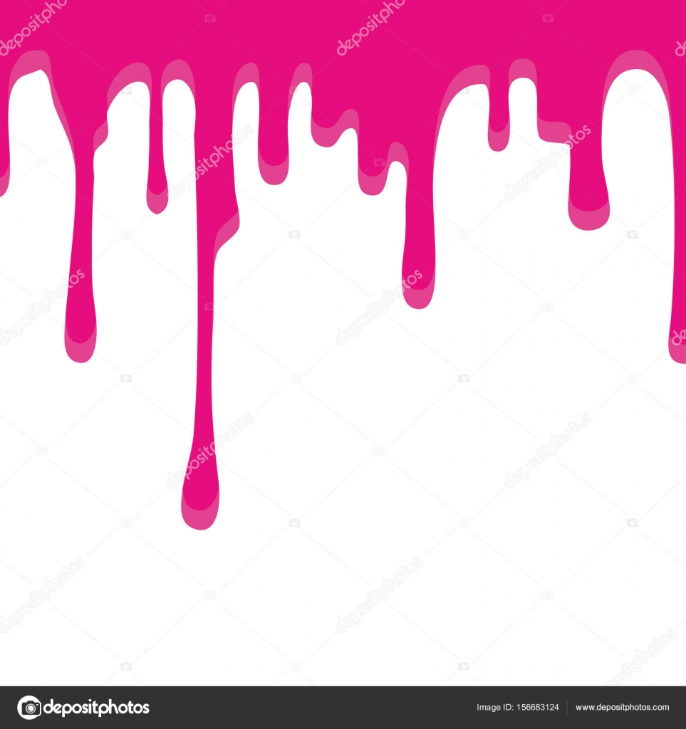Paint Drip Vector Red