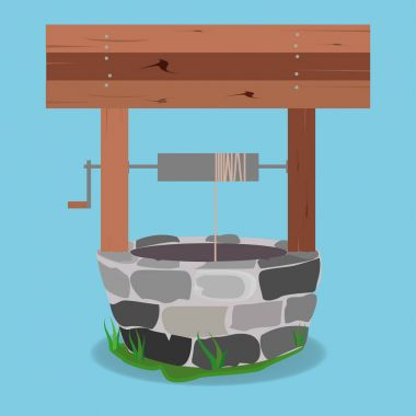 Stone And Wood Water Well