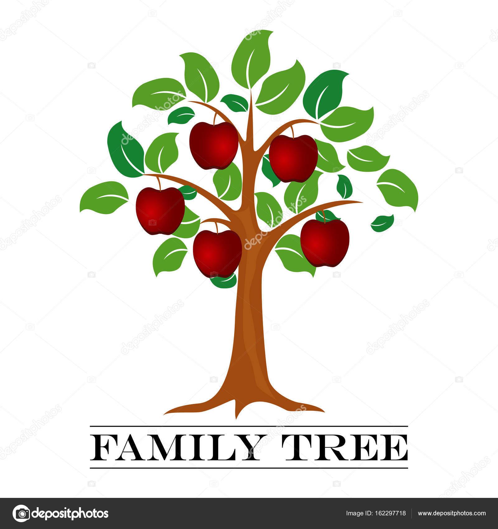 家系図のテンプレートのベクター イラスト ストックベクター