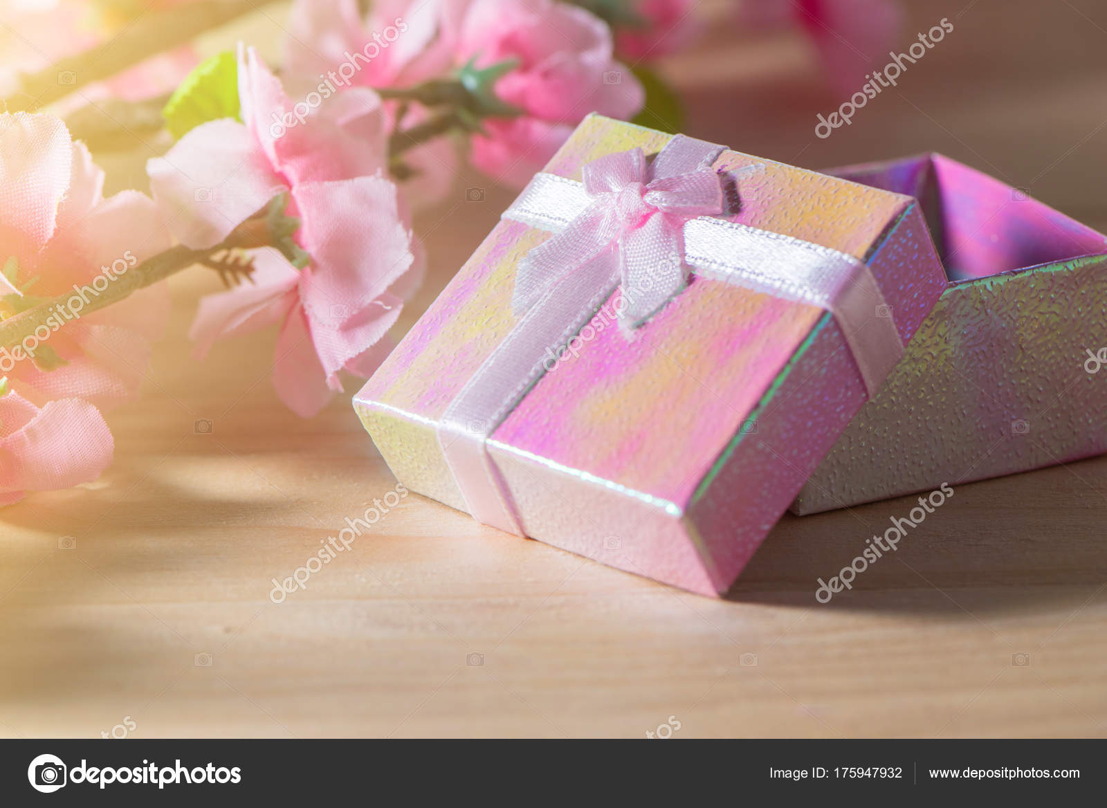 Gift box wrapped and plum blossom Christmas and Newyear presents ...