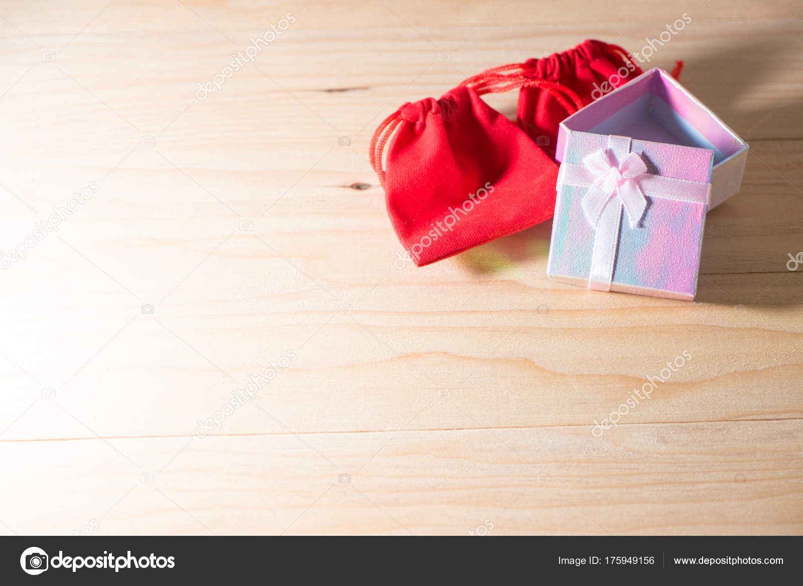 Gift box and red gift bag wrapped christmas and newyear presents gift box and red gift bag wrapped christmas and newyear presents with bows and ribbons buycottarizona Gallery