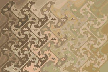 background illustration brown pastel tones interesting design