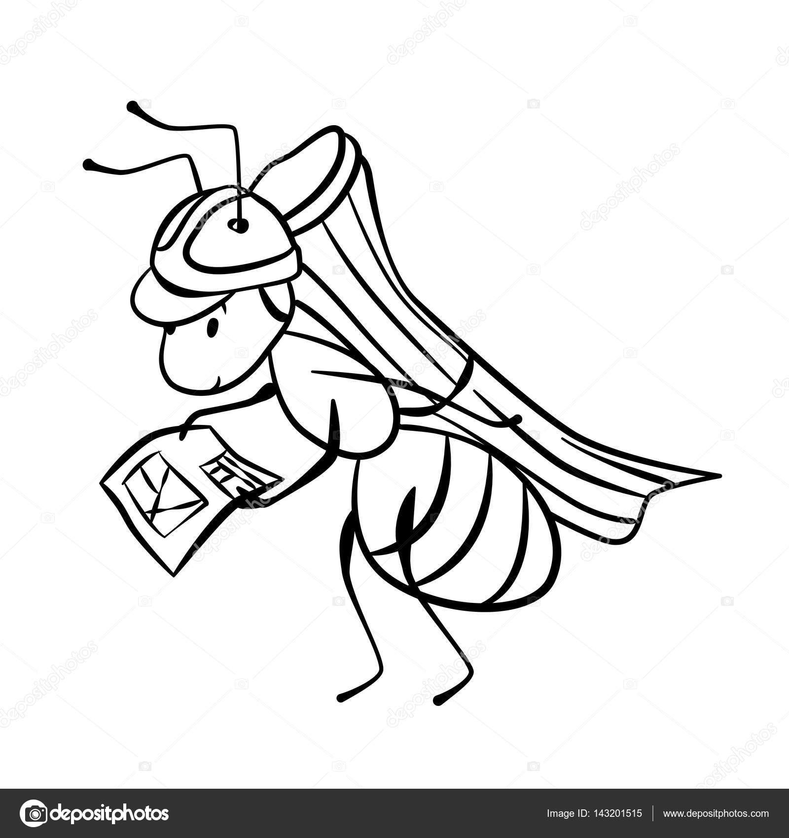 Vektör Karınca Oluşturucusu Boyama Stok Vektör Sunnyws 143201515