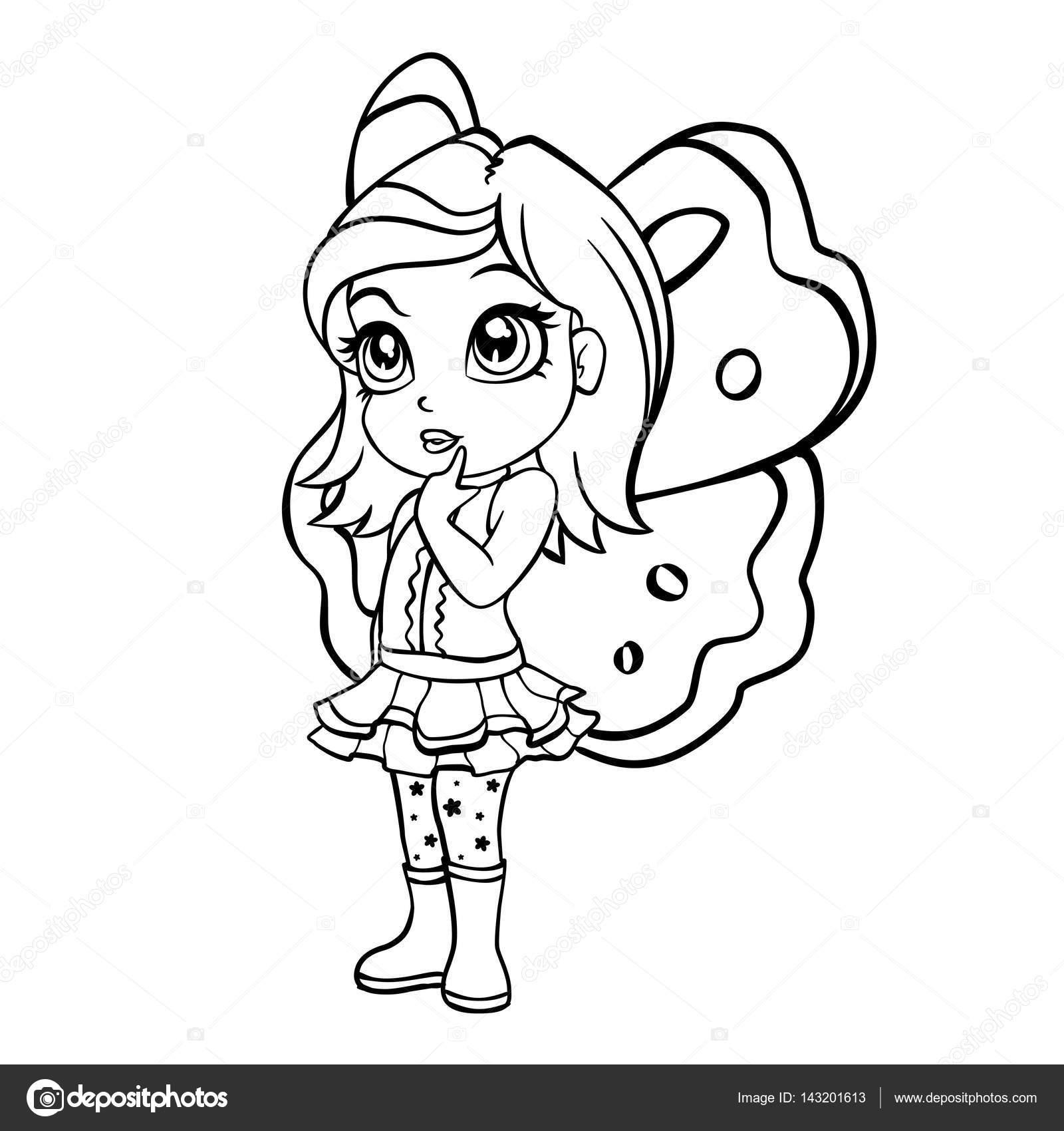 Vector doodle ilustración de niña de hadas elfos — Archivo Imágenes ...