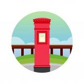 Fotografie Vektor-englischen roten Briefkasten-Symbol