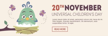 vector universal children's day banner
