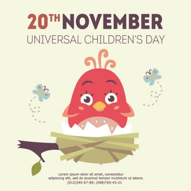 vector universal children's day illustration