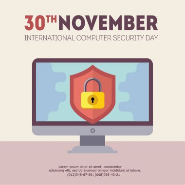 vector computer security day illustration