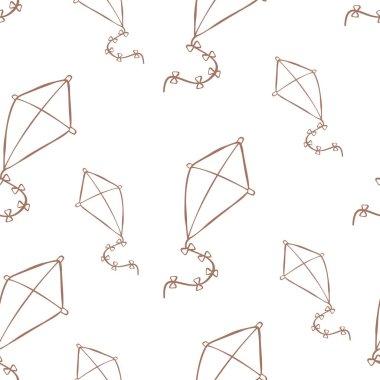 vector seamless kite pattern
