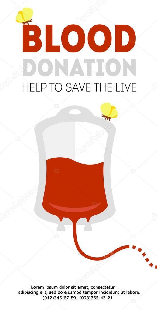 vector blood donation vertical banner