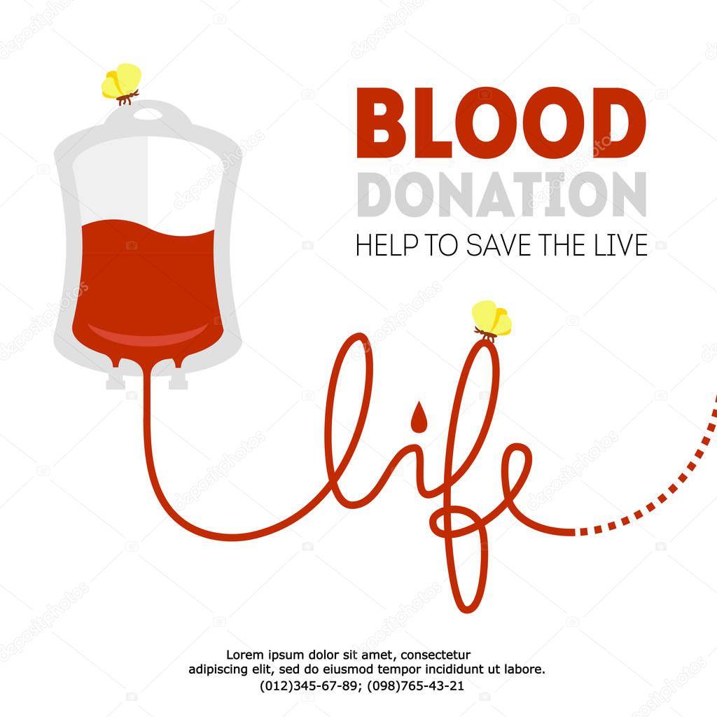 vector blood donation illustration