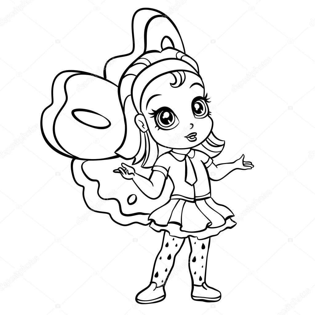 vector doodle meisje stockvector 169 sunnyws
