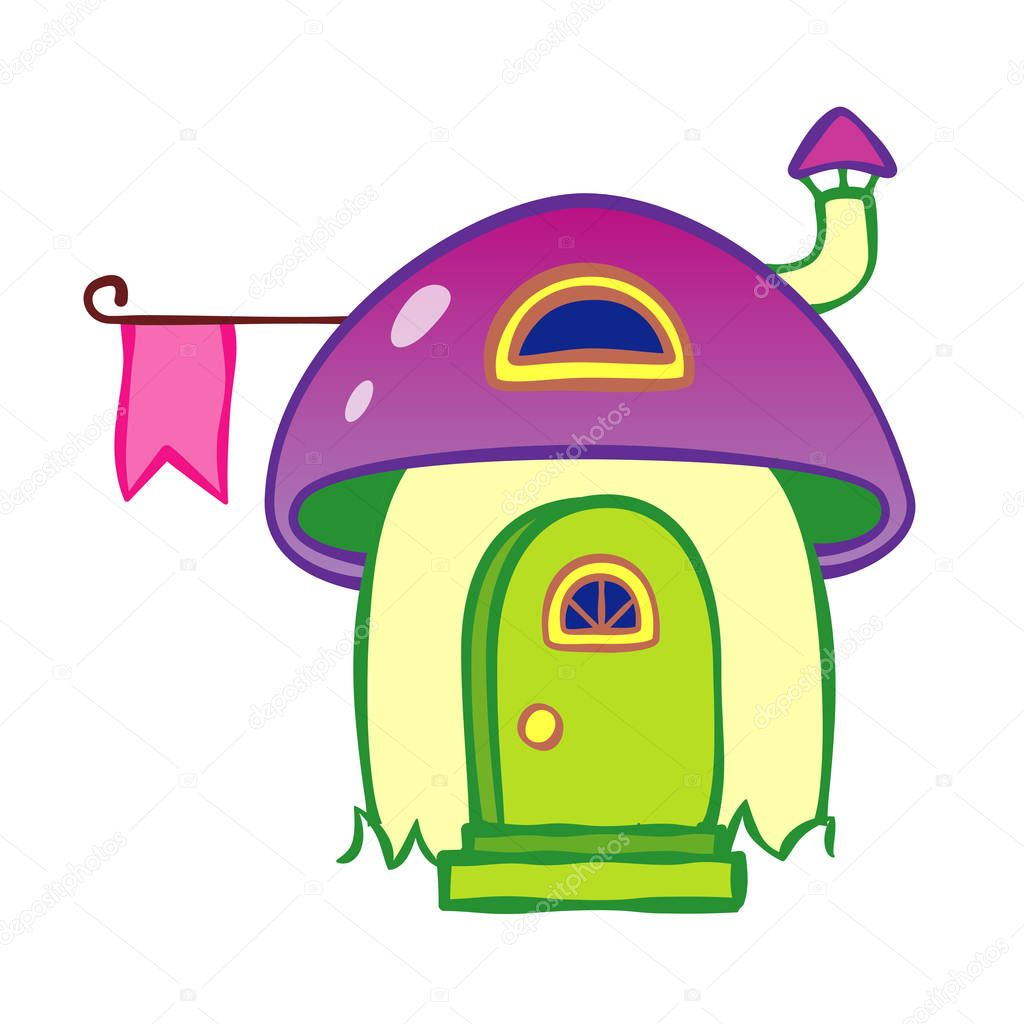vector magic cartoon house illustration