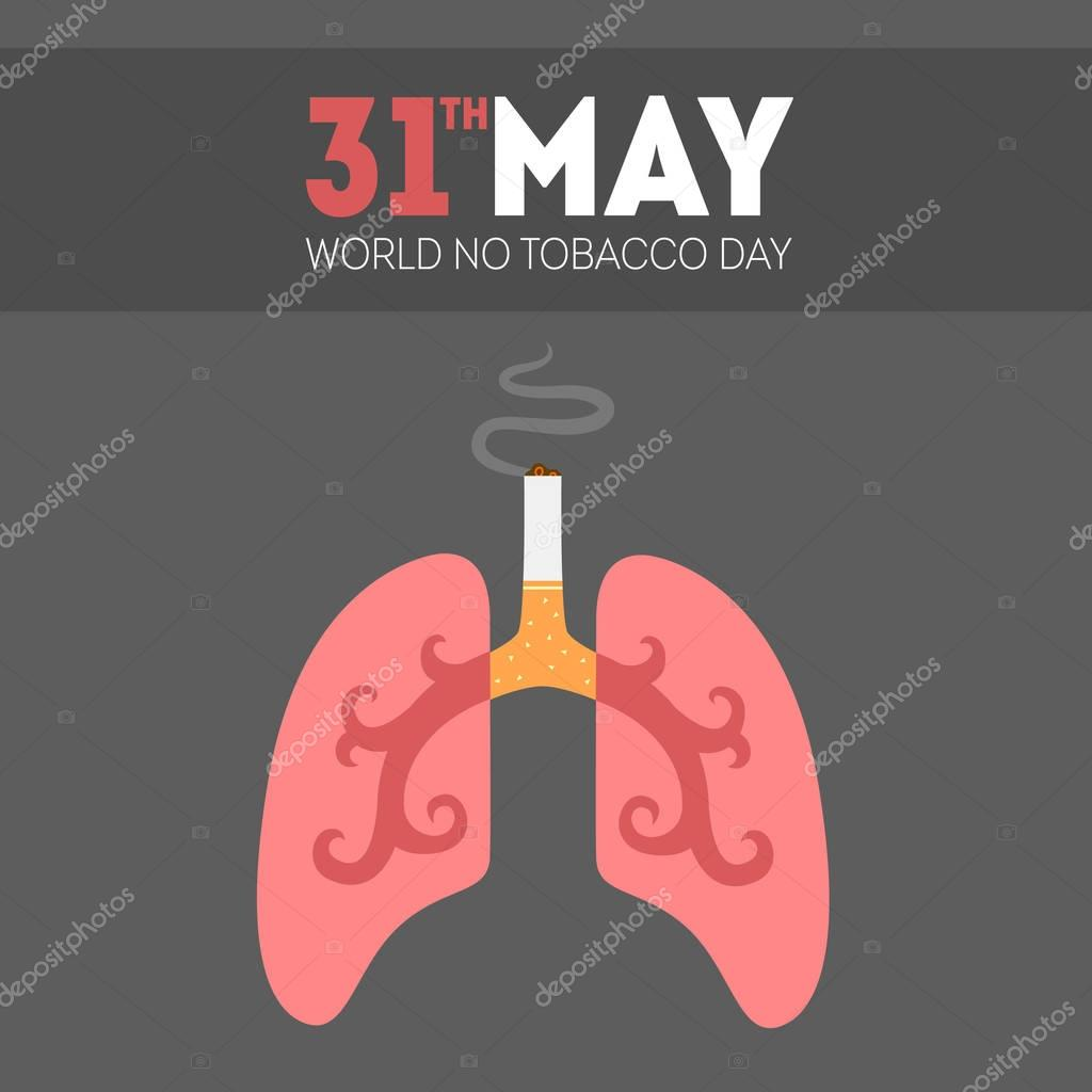 vector world tobacco day illustration