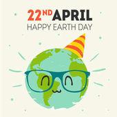 vektor země dne 22. dubna blahopřání