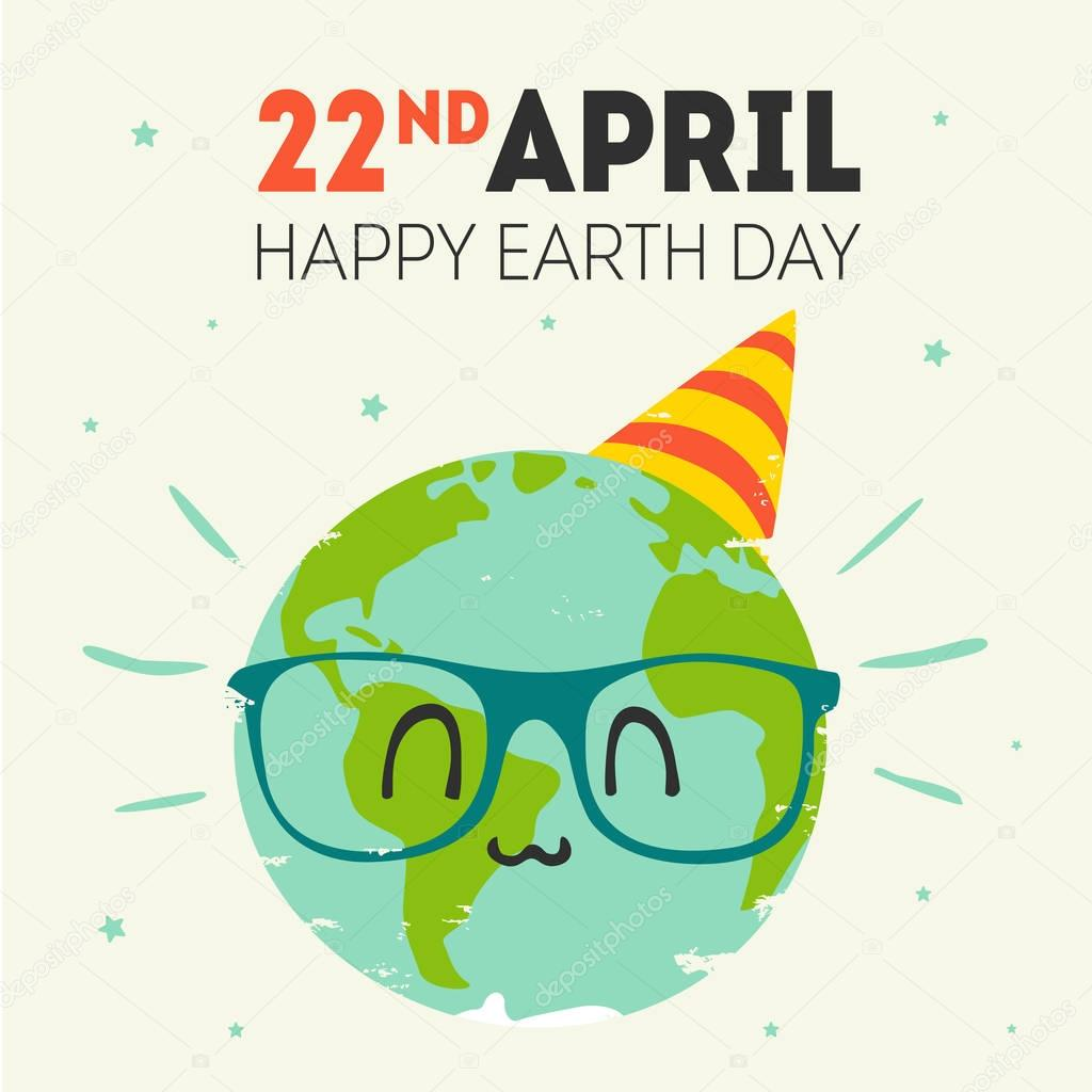 vector earth day 22 april greeting card