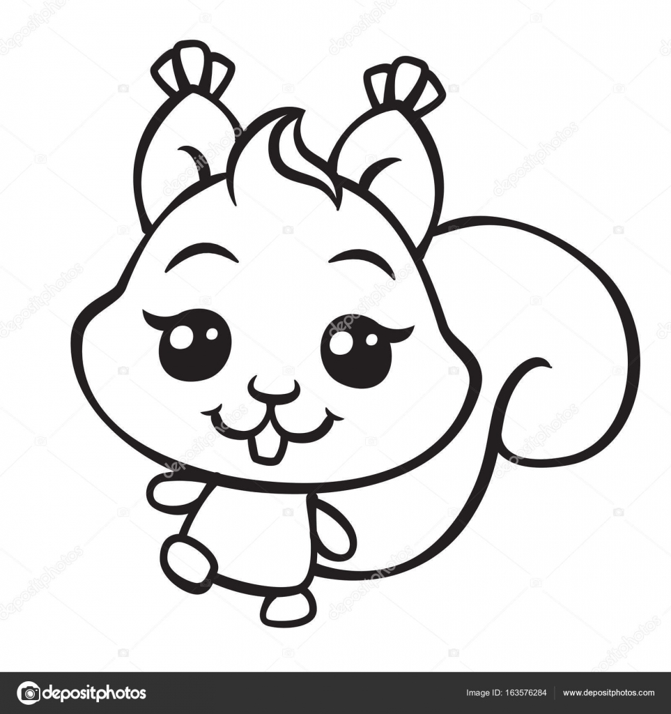 a squirrel is brown coloring page cute squirrel coloring