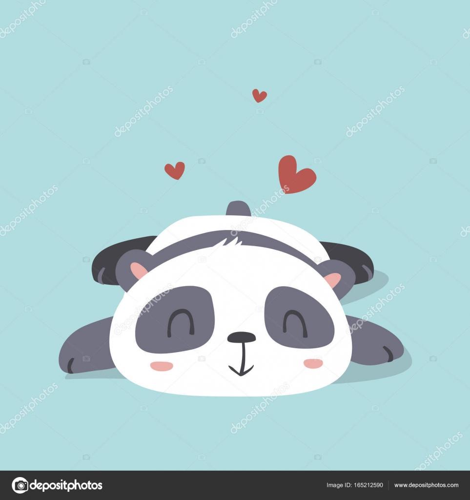 Vector De Dibujos Animados Panda Lindo De Kawaii Estilo De