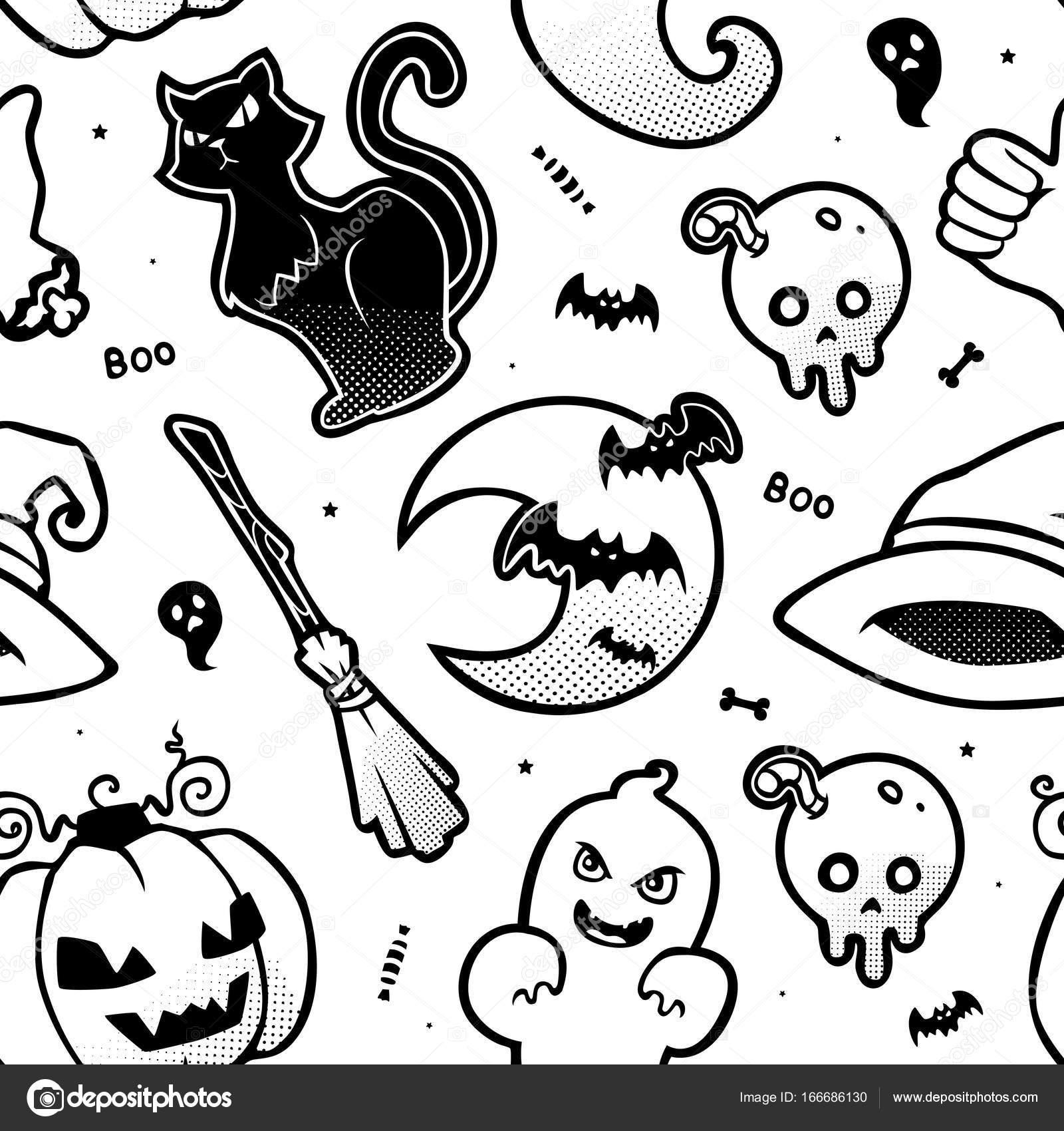 Vector de patrones sin fisuras halloween — Archivo Imágenes ...
