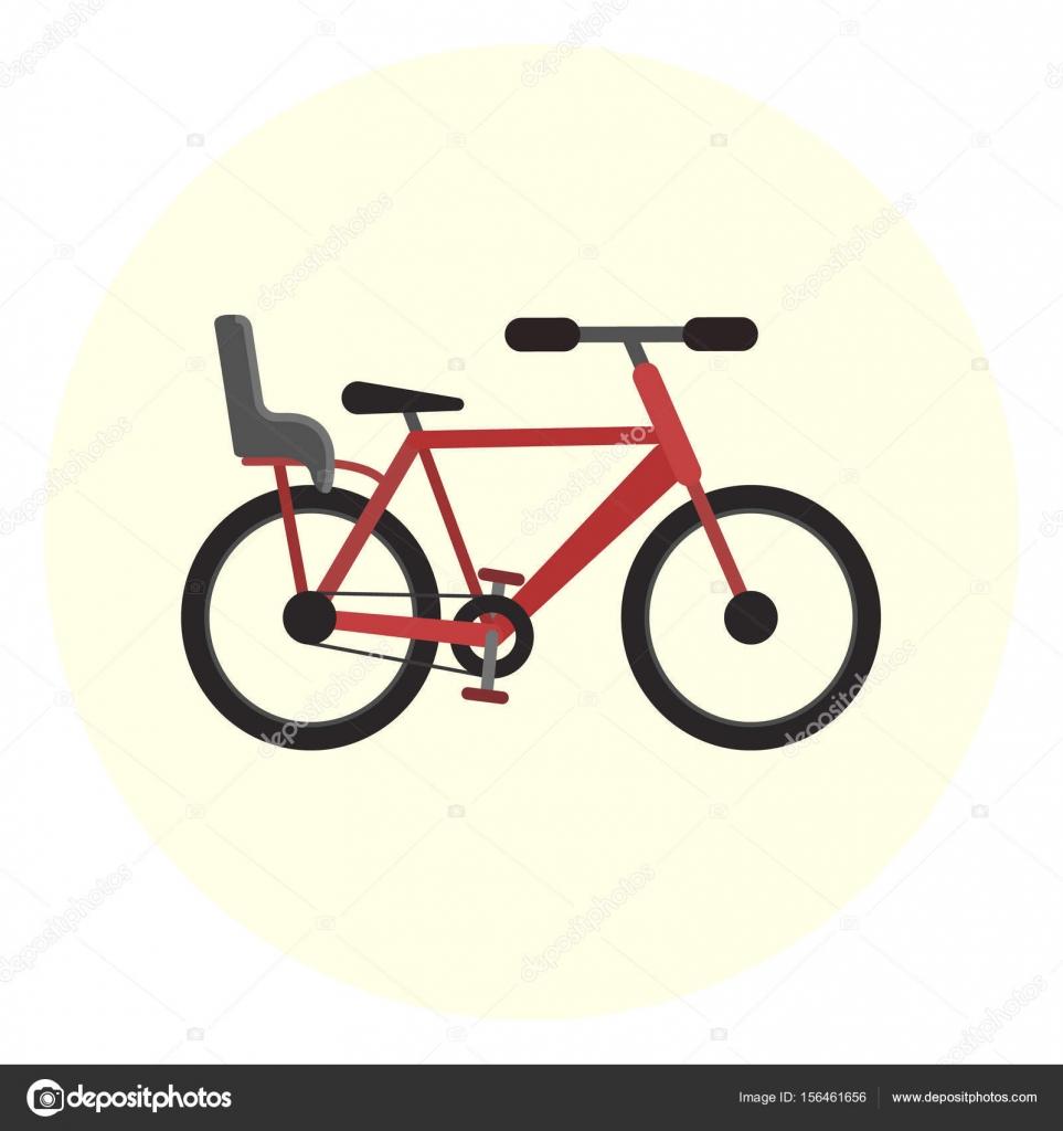 Plana bici con el asiento de bebé, bicicleta con silla para niños ...