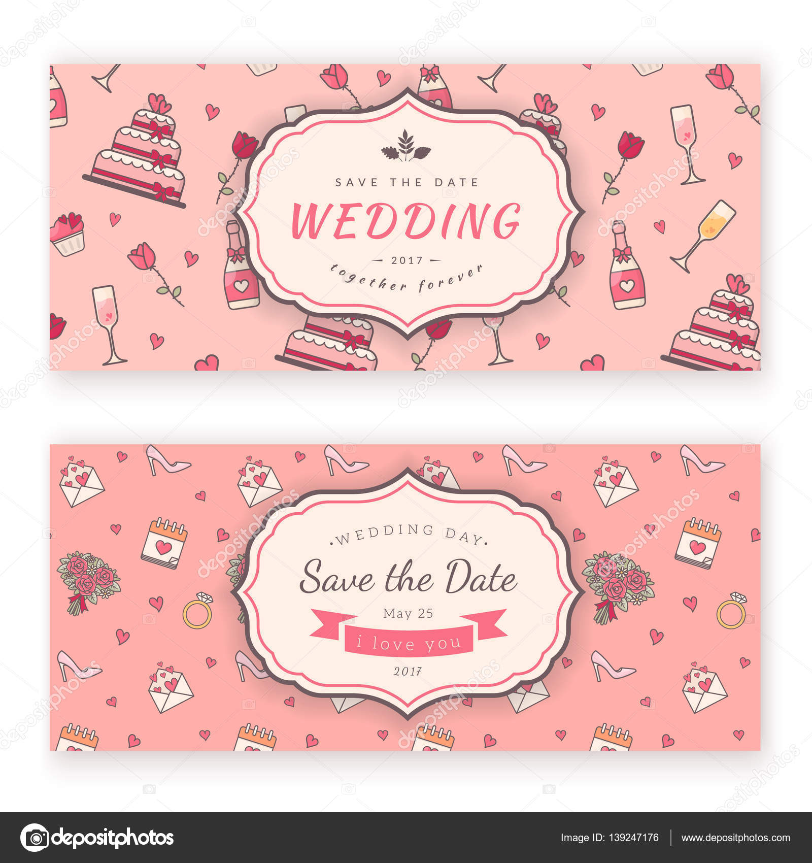 wedding banner template stock vector chuhail 139247176