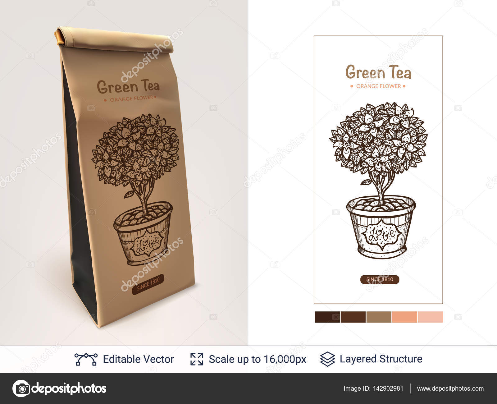 tea package design stock vector chuhail 142902981