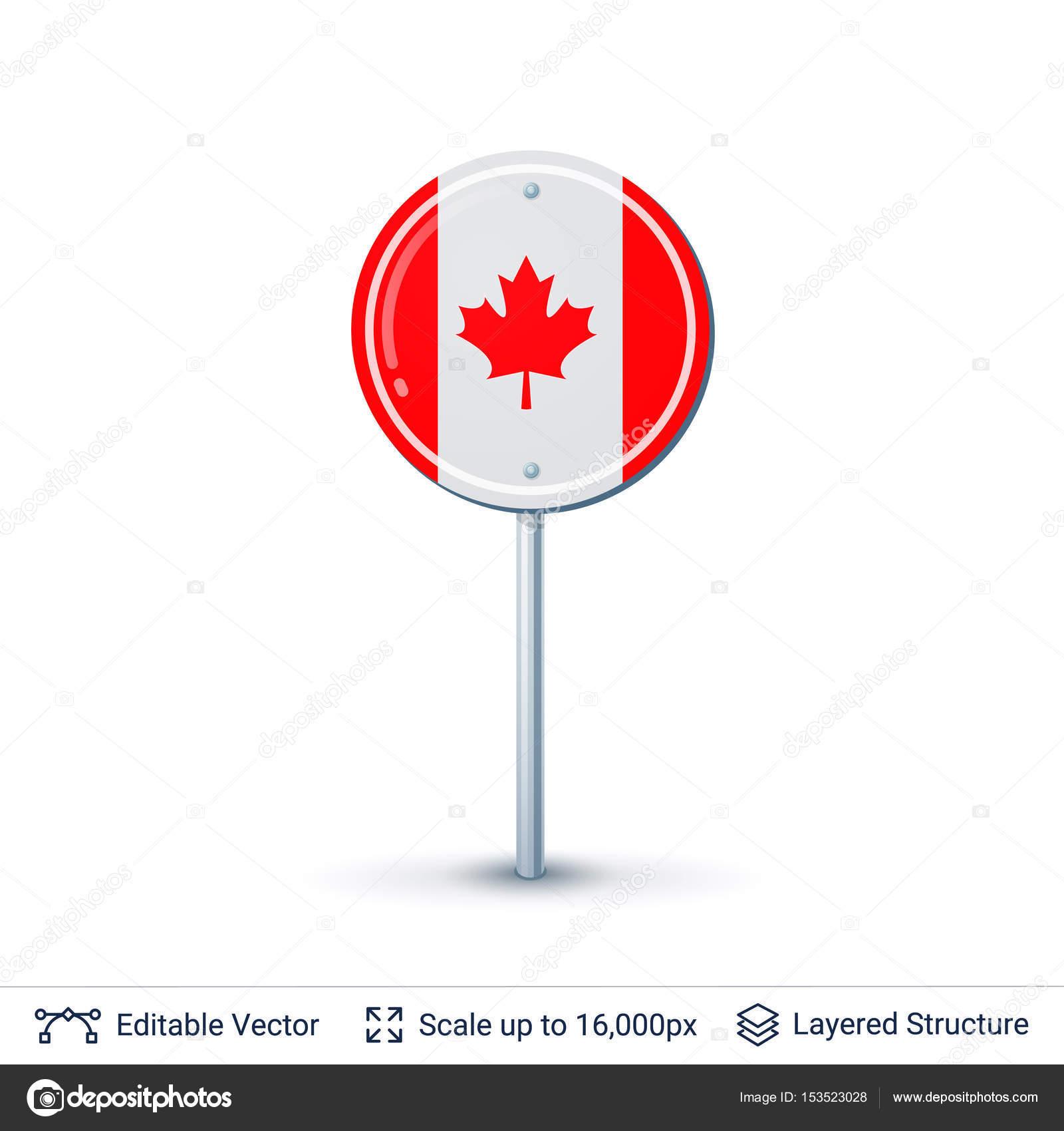 Bandera de Canadá aislado en blanco — Vector de stock © Chuhail ...