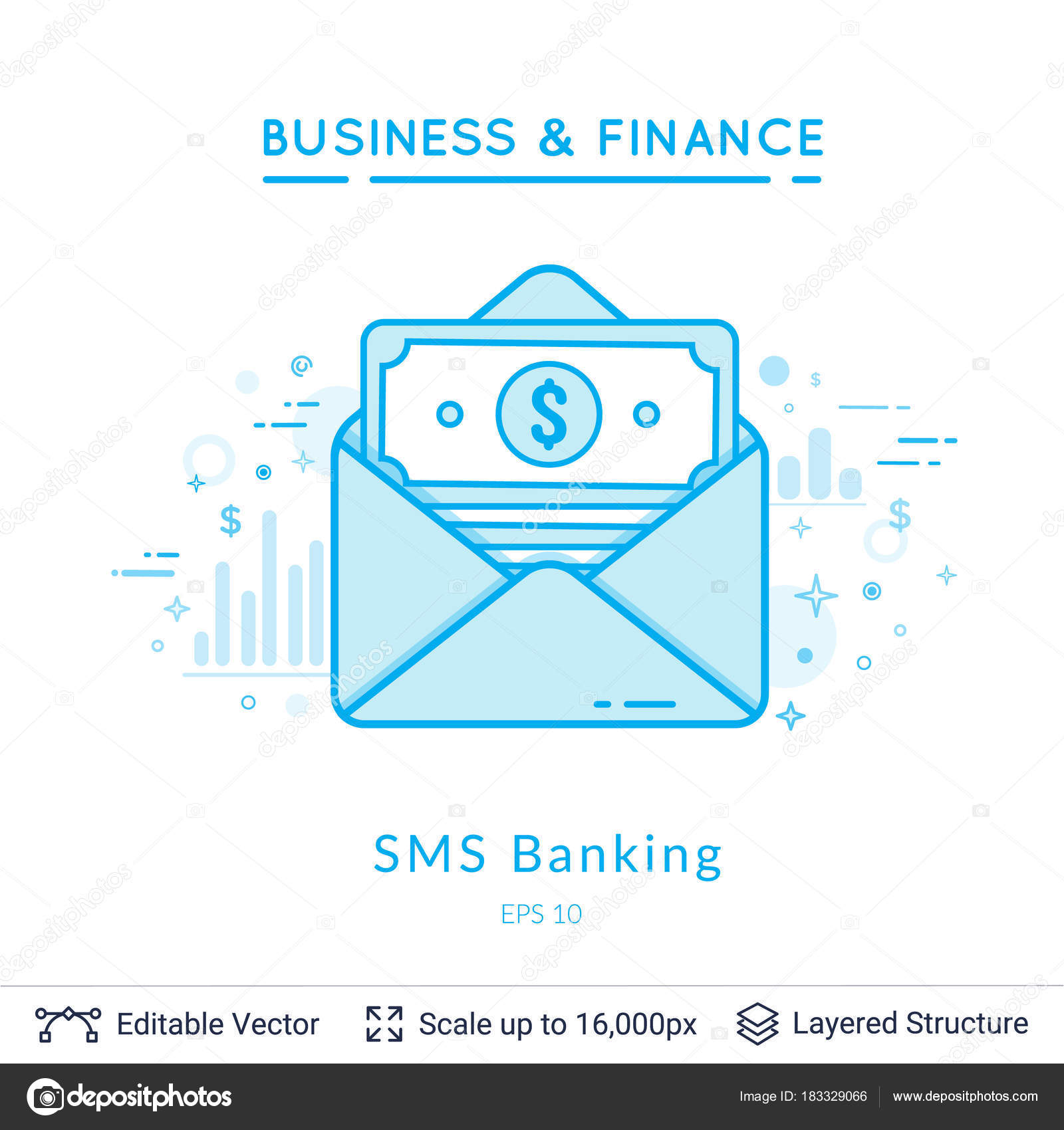 Bank Message Symbol On White Stock Vector Chuhail 183329066