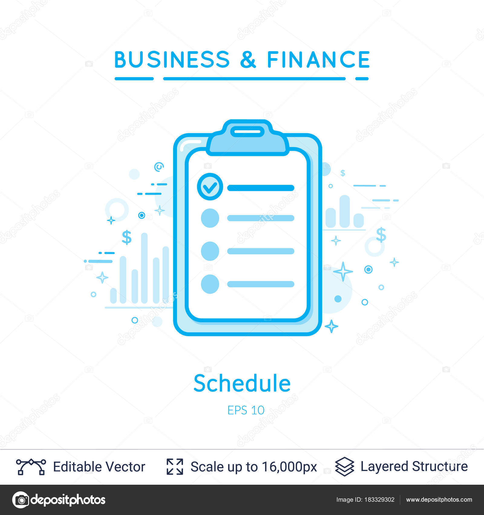 Schedule Do To List Symbol On White Stock Vector Chuhail 183329302