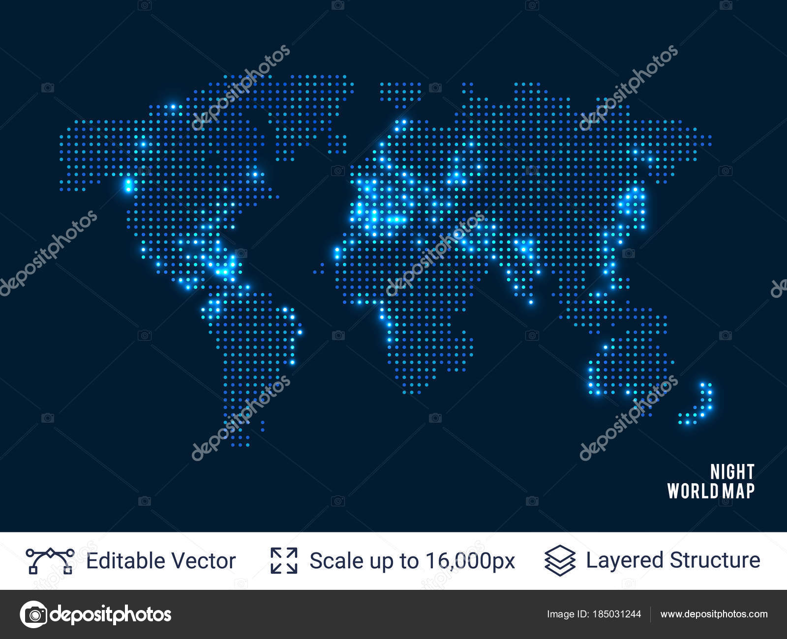 Dotted blank black world map stock vector chuhail 185031244 dotted blank black world map stock vector gumiabroncs Images