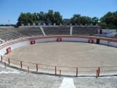Španělské Bull Ring boje v Alcudia Mallorca